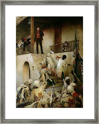 General Gordon's Last Stand Framed Print by George William Joy