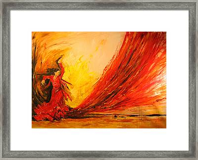 Framed Print featuring the painting Gift Of Fire by Debora Cardaci