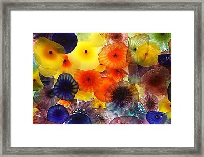 Glass Flowers Framed Print by Erin Rosenblum