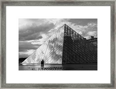 Glass Pyramid. Louvre. Paris.  Framed Print