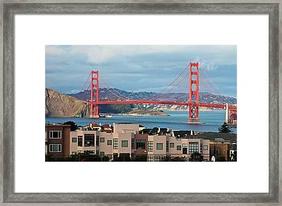 Golden Gate Framed Print by Stickney Design