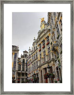 Golden Grand Place Framed Print by Carol Groenen