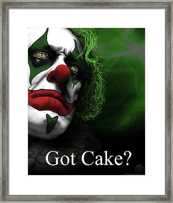 Got Cake Framed Print