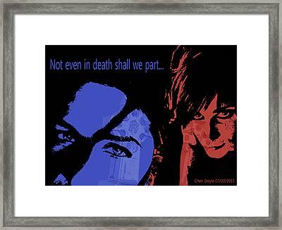 Gothic Love Framed Print by Cheri Doyle