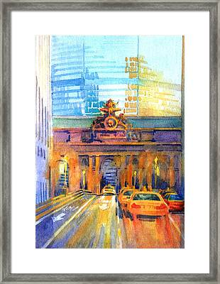 Grand Central Before Six, Driver Framed Print by Virgil Carter