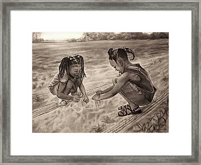 Grandma's Sand Framed Print by Curtis James