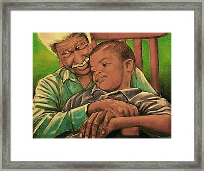 Grandpa And Me Framed Print by Curtis James