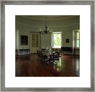 Greathouse Dinning Framed Print by Dennis Stein