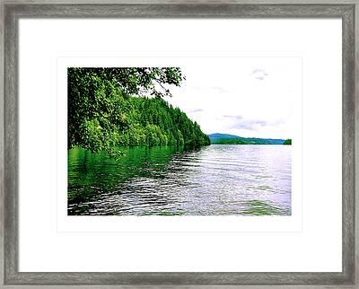 Green Lake Framed Print by J D Banks