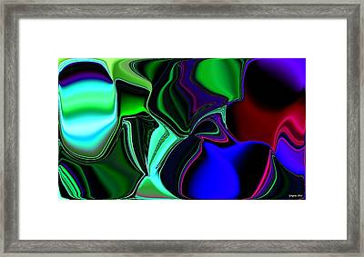 Green Nite Distortions 4 Framed Print