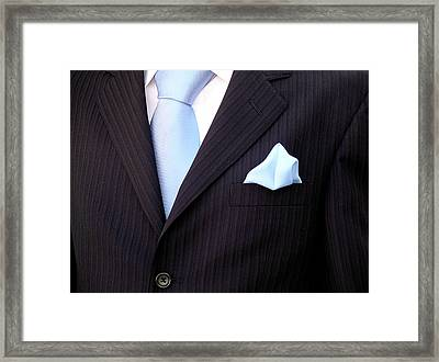 Groom's Torso Framed Print by Carlos Caetano