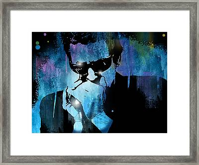 Harmonica Blues Framed Print