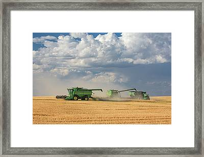 Harvest Clouds Framed Print by Todd Klassy