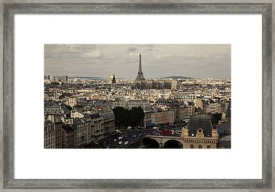 Heart Of City, Paris Framed Print by Photo by rachel kara