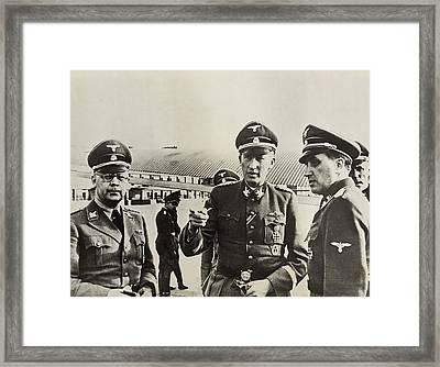 Heindrich Himmler Leftand Heydrich Framed Print by Everett
