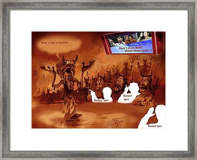 Hell Booked Up Framed Print