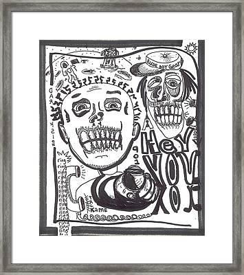 Hey You Framed Print by Robert Wolverton Jr