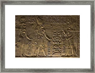 Hieroglyph At Edfu Framed Print