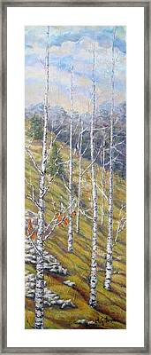 Hill In The Morning Framed Print