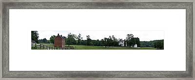 Historic Appomattox Panorama  Framed Print by Teresa Mucha