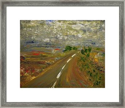 Framed Print featuring the painting Hit The Road by Evelina Popilian