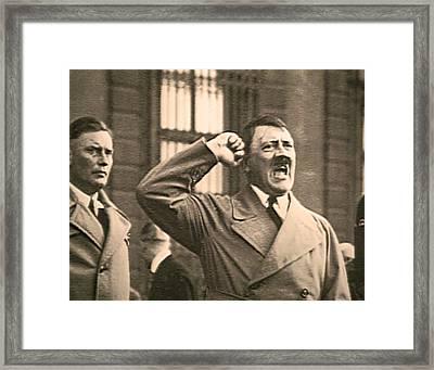 Hitler The Orator Framed Print