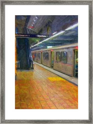 Framed Print featuring the photograph Hollywood Subway Station by David Zanzinger