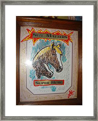 Framed Print featuring the painting Horses by Lisa Piper