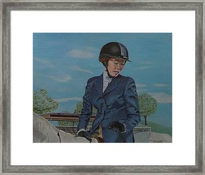 Horseshow Day Framed Print