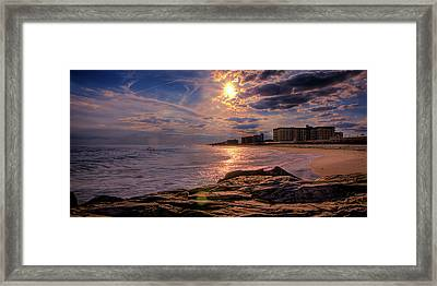 Hurry Sundown Framed Print by David Hahn