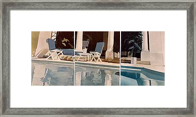 Ibiza Pool Framed Print by Geoff Greene
