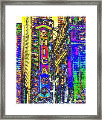 Iconic Chicago Framed Print by Leslie Revels Andrews