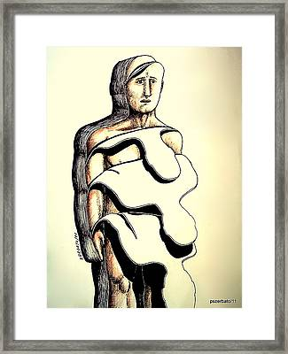 I'm Not The Same Every Minute That Passes Framed Print by Paulo Zerbato