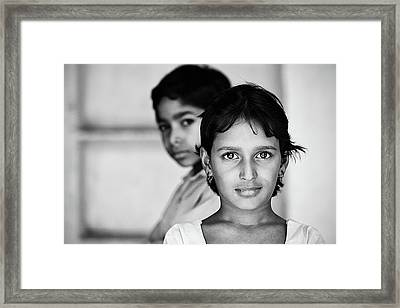 Indian Eyes Framed Print