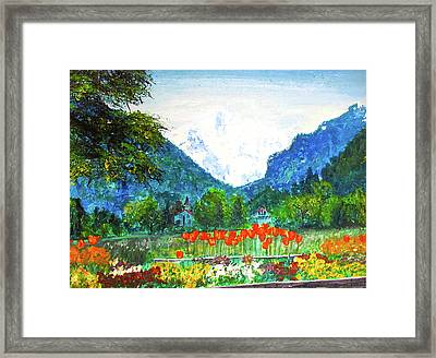Interlaken Framed Print by Beth Saffer