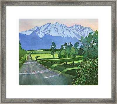 Into The Valley Framed Print