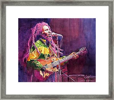Jammin - Bob Marley Framed Print
