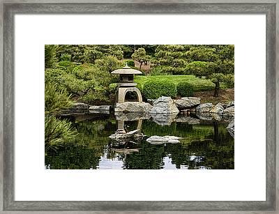 Japanese Garden Framed Print by Catherine Fenner