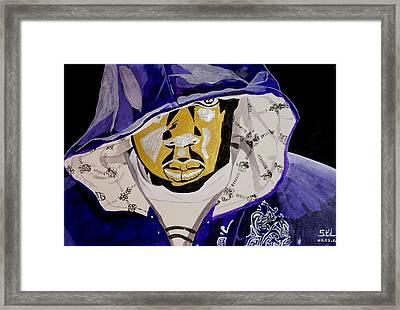 Jay-z Framed Print by Estelle BRETON-MAYA