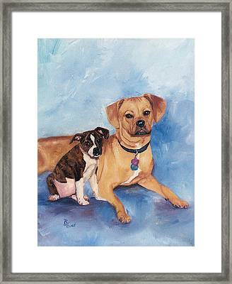 Jaz And Lily Framed Print by Brenda Thour