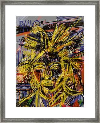 Jean Michel Framed Print by Russell Pierce