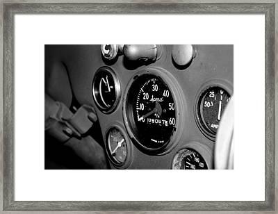 Jeep Gauges Framed Print