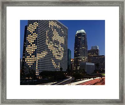 Joe Paterno City Scape Framed Print by Paul Van Scott