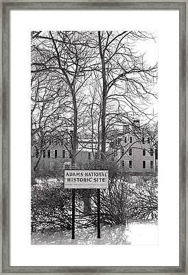 John Quincy Adams House Ll Framed Print by Heather Weikel