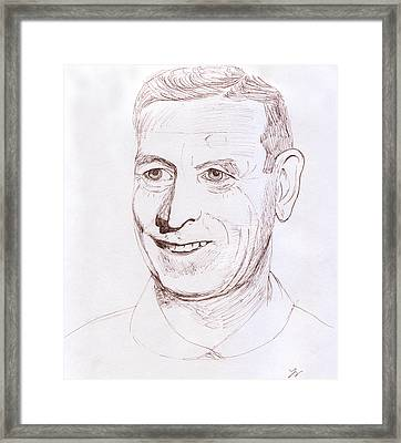John Wooden Framed Print
