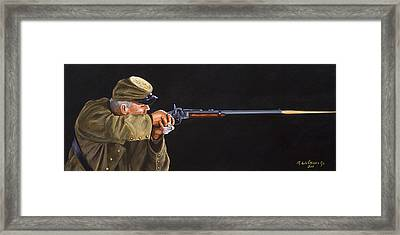 Johnny Reb Framed Print