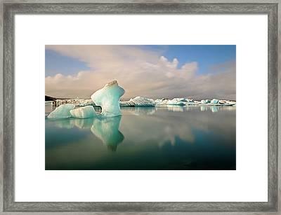 Jokulsarlon Glacier Lagoon Icebergs Framed Print