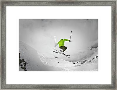 Jumping Of Rock Framed Print