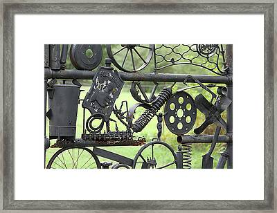 Junk Art Framed Print by Marilyn West