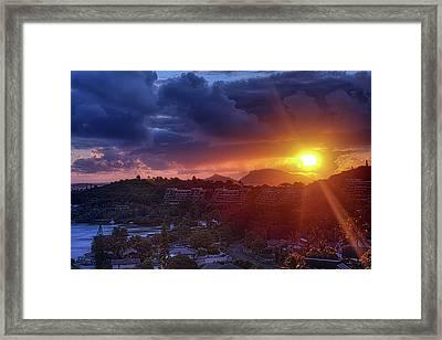 Kaneohe Sunrise Framed Print by Dan McManus